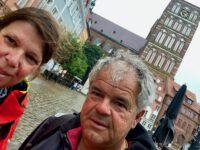 Sightseeing in Stralsund, leider im Regen.